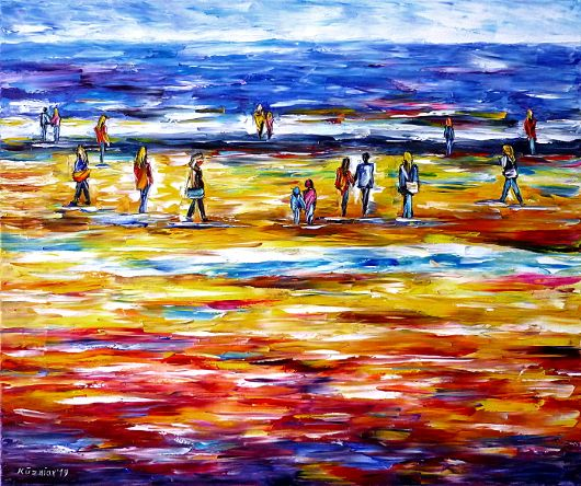 peopleonthebeach,beachscenery,loversonthebeach,walkinghandinhand,holdinghands,beachlife,peoplebythesea,seascape,beachpainting,childrenonthebeach,awalkonthebeach,motherwithchildonthebeach,redbeach,yellowbeach,redandyellow,beachwalk,seapainting,waterpainting,pinkpainting,pinkpicture,pinkartwork,paletteknifeoilpainting,modernart,impressionism,artdeco,abstractpainting,livelypainting,colorfulpainting,livelycolours,3doilpainting,3dpicture,3dimage