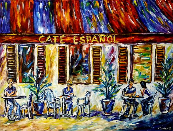 oilpainting,modern,impressionism,abstractpainting,restaurant,spain,barcelona,streetcafe,madrid,lloretdemar,peoplepaiting,foodanddrink,eatanddrink,lively,colorful