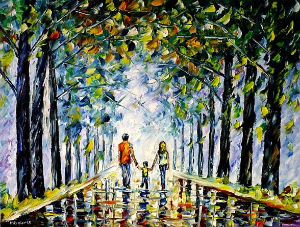 oilpainting,modern,impressionism,abstractpainting,landscapepainting,youngfamily,walkinginthepark,handinhand,summerpark,summerlandscape,motherwithchild,motherwithson,fatherwithchild,fatherwithson,walkingintheforest,forestlandscape,lively,colorful