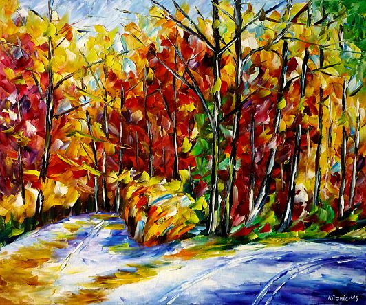 oilpainting,modern,impressionism,artdeco,abstractpainting,landscapepainting,indiansummer,autumnstreet,autumnroad,autumnway,autumnpath,autumntrees,yellowautumn,redautumn,forestpainting,autumnmood,autumnpainting,autumnlandscape,autumnforest,autumncolors,autumnday,peacefulmood,peacefulday,calmday,quietday,waterreflections,recreation,relaxday,3dpaintings,3doilpaintings,3dpictures,3dimages,3dartworks,lively,colorful