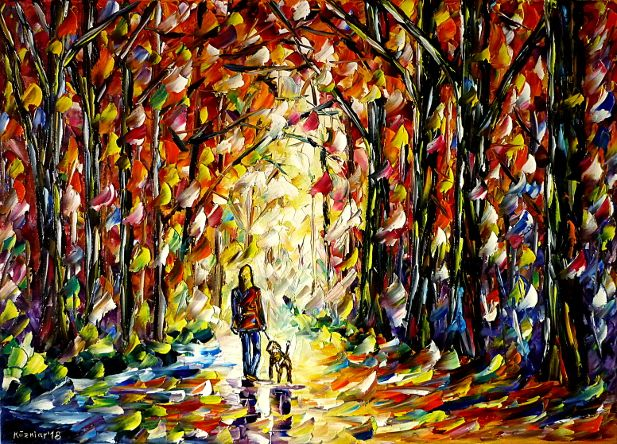 oilpainting,modern,impressionism,abstractpainting,landscapepainting,autumnlandscape,autumnpainting,autumnforest,autumnpark,autumntrees,girlwithadog,womenpainting,girlspainting,autumnmood,animalspainting,dogspainting,peoplepainting,lively,colorful