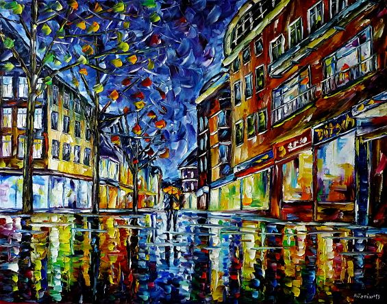 oilpainting,modern,impressionism,artdeco,abstractpainting,cityintherain,cityatnight,nightcity,nightrain,hesse,germancity,university,walkingintherain,ditsch,bar,cafe,restaurant,loversintherain,loverswithumbrella,peopleintherain,peoplewithumbrellas,citylife,cityscene,lovecouple,lovers,citywalk,3dpainting,3doilpainting,3dpicture,3dimage,3dartwork,lively,colorful