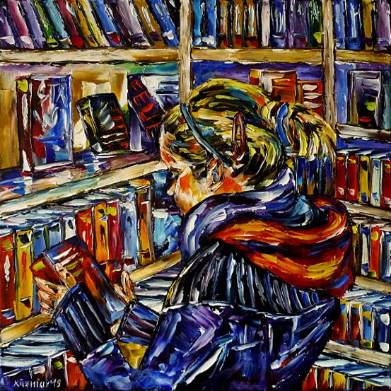 oilpainting,modern,impressionism,artdeco,abstractpainting,readingwoman,readingabook,readinggirl,peoplepainting,girlpainting,womanpainting,bookshelf,bookshop,girlinwinter,womaninwinter,wintertime,winterclothing,3dpaintings,3doilpaintings,3dpictures,3dimages,3dartworks,lively,colorful