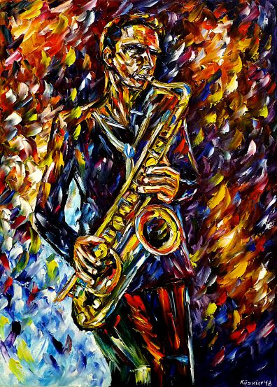 oilpainting,modern,impressionism,abstractpainting,saxophneplayer,saxophonist,jazzmusician,freejazz,swing,jazzsaxophonist,makingmusic,musicplaying,lively,colorful