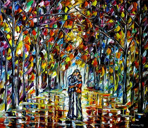 oilpainting,modern,impressionism,abstractpainting,kissing,loving,lovecouple,lovers,younglove,younglovers,younglovecouple,loversinthepark,peoplepainting,loverspainting,landscapepaiting,lively,colorful