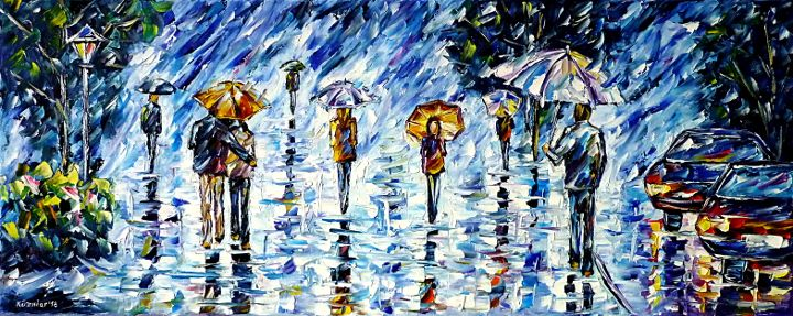 oilpainting,modern,impressionism,abstractpainting,peoplewithumbrella,womanwithumbrella,girlwithumbrella,lovecouplewithumbrella,cityscene,cityscape,cityintherain,raininthecity,lantern,carsintherain,cityonarainyday,lively,colorful