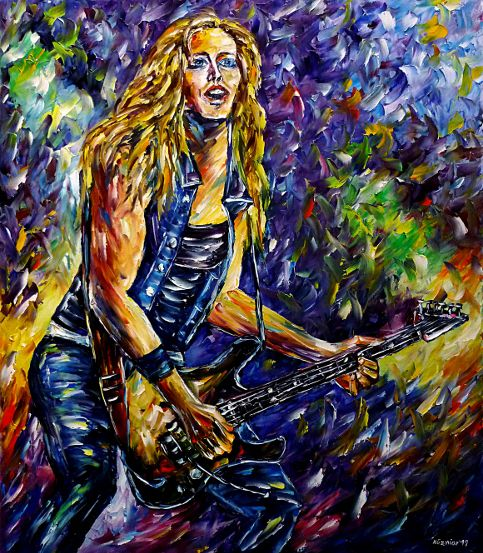 oilpainting,modern,impressionism,artdeco,abstractpainting,nitastraussportrait,rockmusician,rockguitarist,heavymetalguitarist,playingguitar,guitarplayer,alicecooper,womanportrait,girlportrait,womanpainting,girlpainting,blondinepainting,superstar,americanmusician,3dpainting,3doilpainting,3dpicture,3dimage,3dartwork,lively,colorful