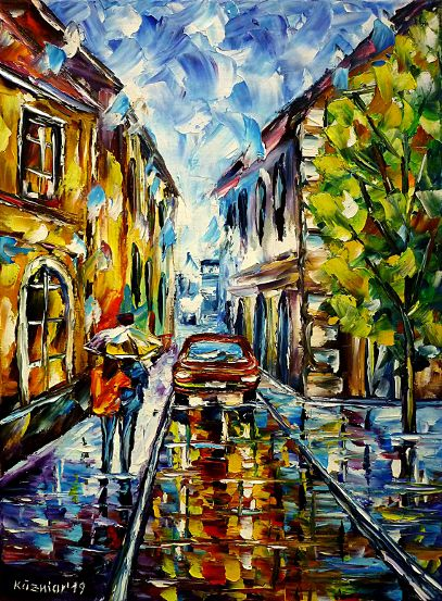 carintherain,blueandyellowpainting,oldcitypainting,narrowstreets,wetstreet,rainyday,rainyscene,cloudyday,oilpainting,modern,impressionism,artdeco,abstractpainting,cityintherain,summerrain,walkingintherain,loversintherain,loverswithumbrella,peopleintherain,peoplewithumbrellas,citylife,cityscene,lovecouple,lovers,citywalk,3dpainting,3doilpainting,3dpicture,3dimage,3dartwork,lively,colorful