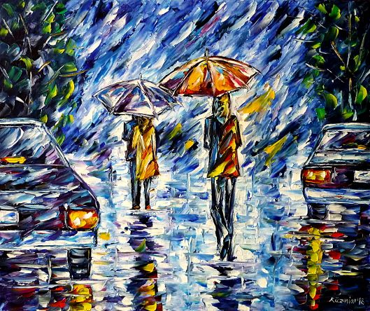 oilpainting,modern,impressionism,abstractpainting,peopleintherain,loversintherain,womanintherain,girlintherain,peoplewithumbrellas,loverswithumbrella,womanwithumbrella,girlwithumbrella,carsintherain,cityintherain,cloudysky,cityscene,cityscape,peoplepainting,loverspainting,lively,colorful