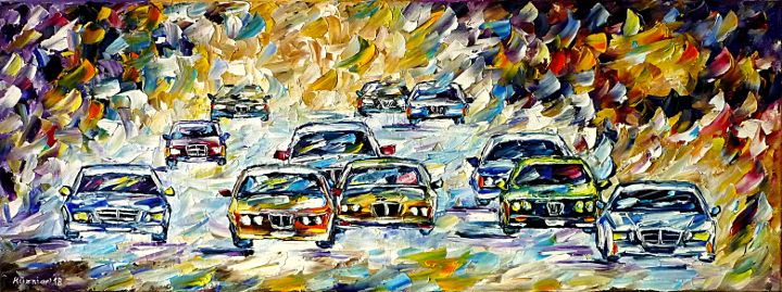 oilpainting,modern,impressionism,abstractpainting,racecar,racingcar,carracing,motorsport,autosport,motorracing,tc1,tc2,tcr,lively,colorful