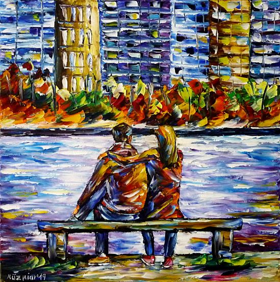 oilpainting,modern,impressionism,artdeco,abstractpainting,loversonabench,lovecoupleonabench,peopleonabench,sittingonabench,loveinthecity,loversinthecity,peopleinthecity,lovecoupleinthecity,peoplebytheriver,sittingbytheriver,loversbytheriver,peoplefrombehind,loversfrombehind,manandwomanonabench,autumninthecity,cityinautumn,3dpaintings,3doilpaintings,3dpictures,3dimages,3dartworks,lively,colorful